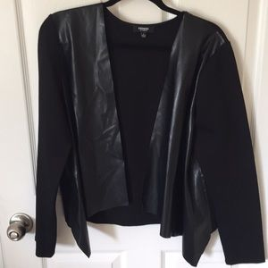 Black jacket with leather look panels